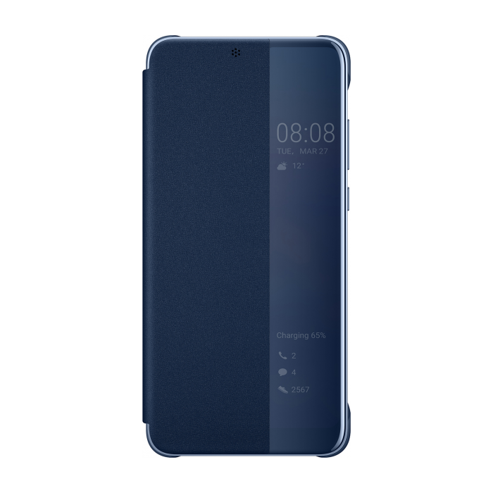 check out 4ce5a d7035 Huawei Smart View Flip Cover Bookcase Type Case with Smart Window for  Huawei P20 blue