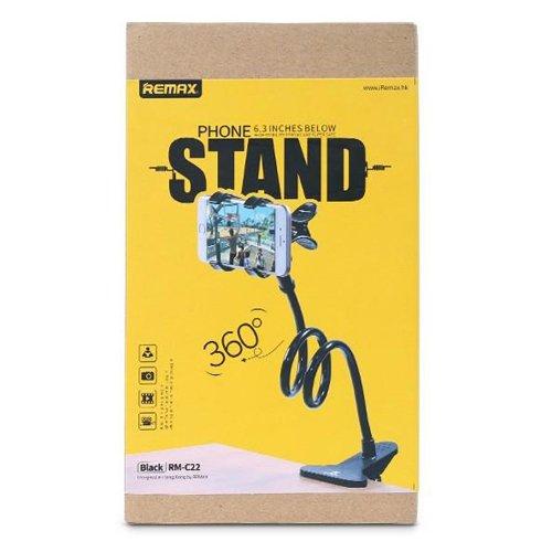 Remax Lazy Stand RM-C22 Clip Holder Desktop Bracket for Mobile Phone black
