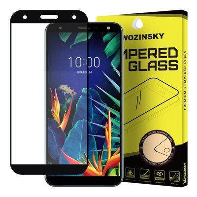 Wozinsky Tempered Glass Full Glue Super Robust Panzerglas Vollbild Hartglas mit Rahmen Case Friendly für LG K40 X420 schwarz